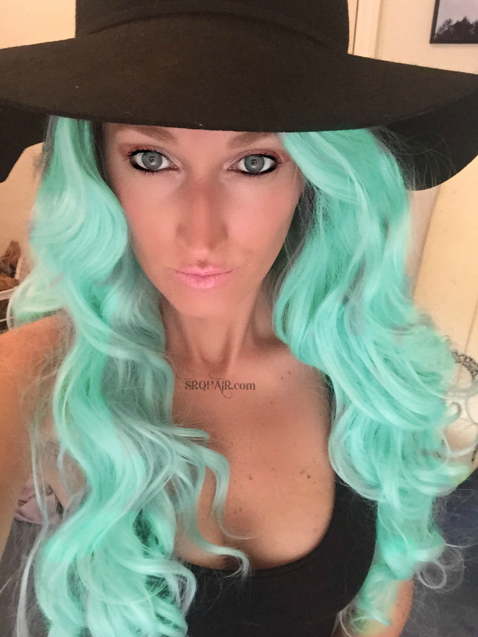 Powder Room D Mint Mermaid Wig